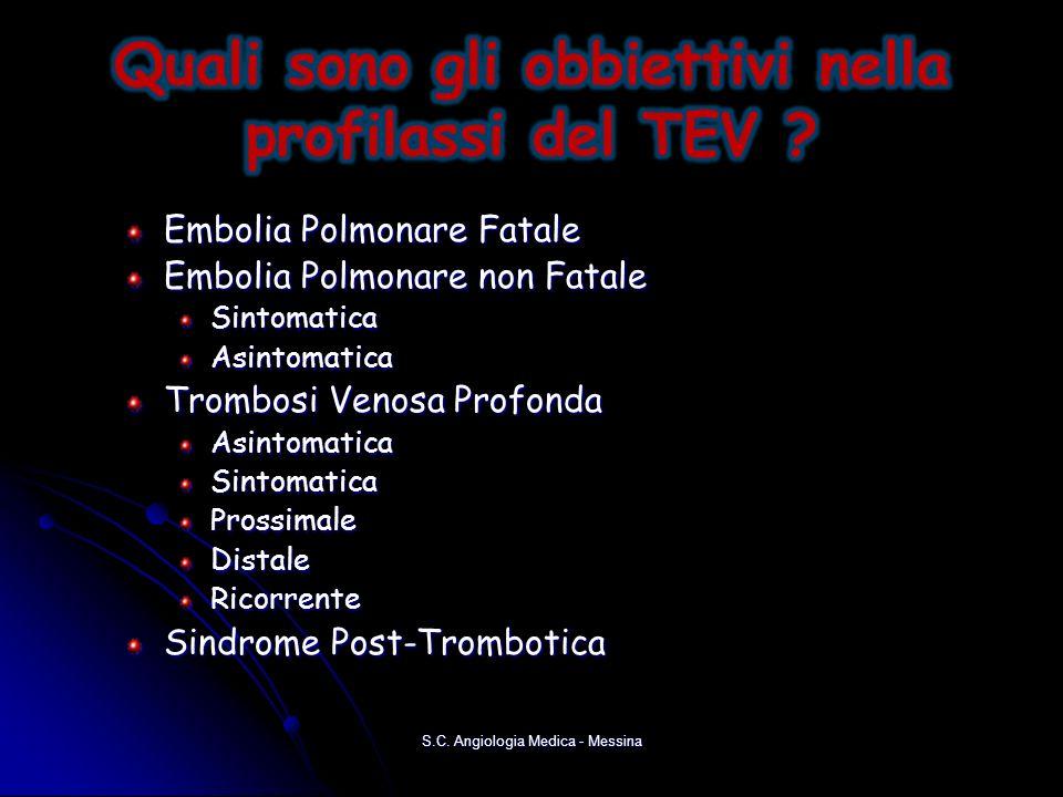 Quali sono gli obbiettivi nella profilassi del TEV