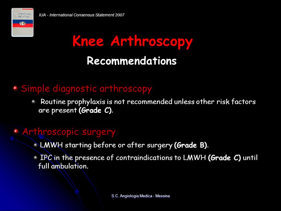 Knee Arthroscopy Recommendations Recommendations