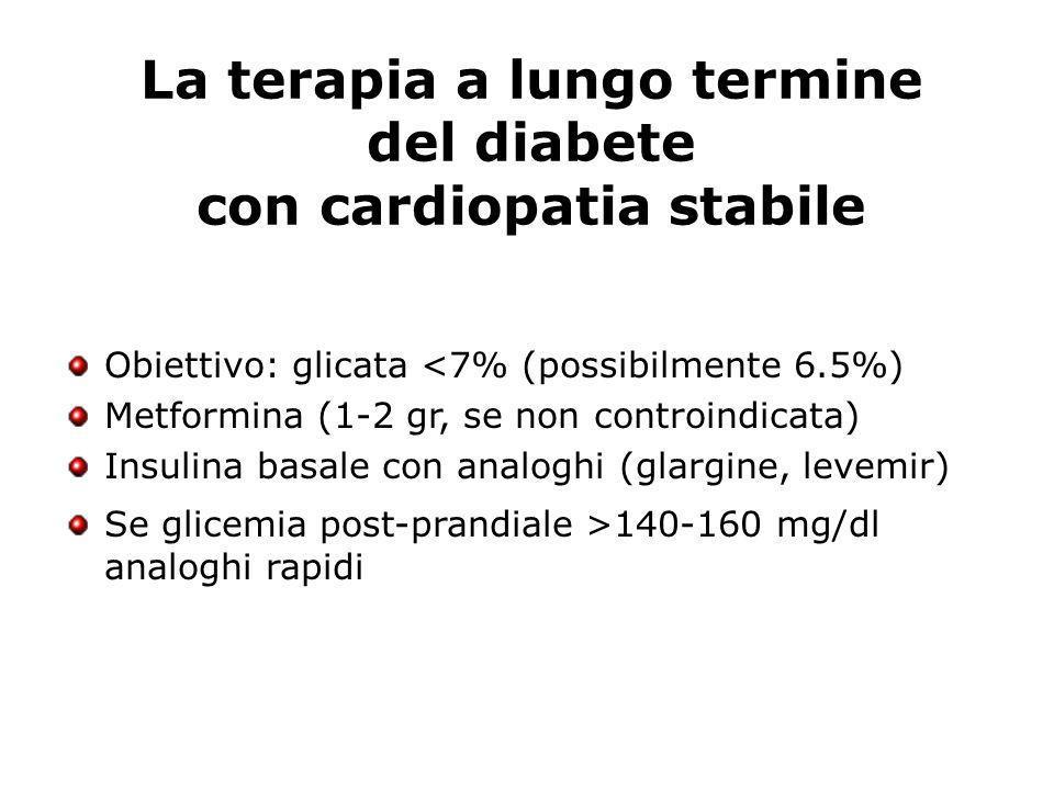La terapia a lungo termine del diabete con cardiopatia stabile