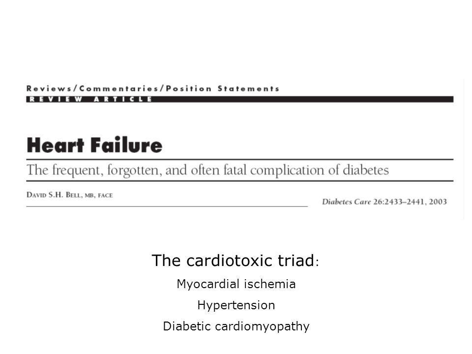 The cardiotoxic triad:
