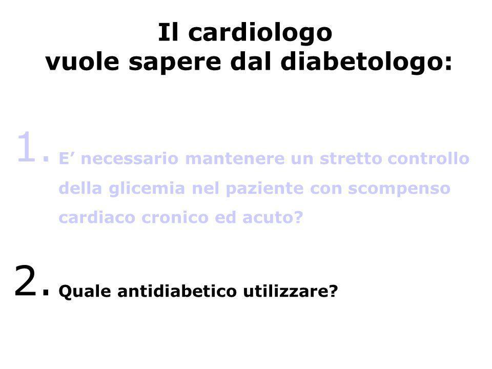 vuole sapere dal diabetologo:
