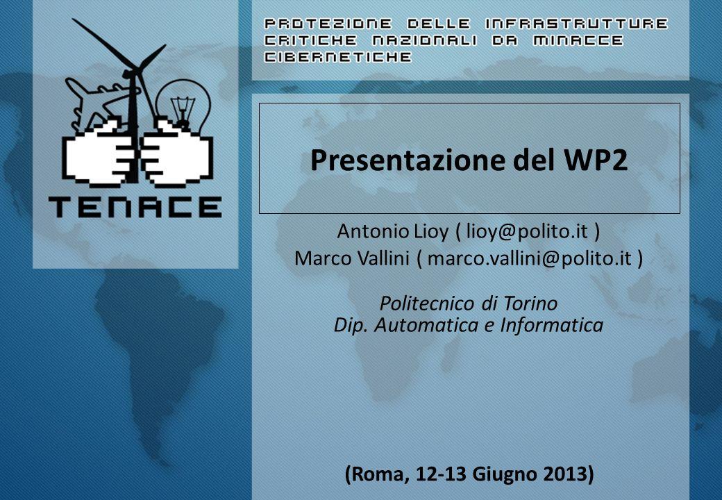 Presentazione del WP2 Antonio Lioy ( lioy@polito.it )