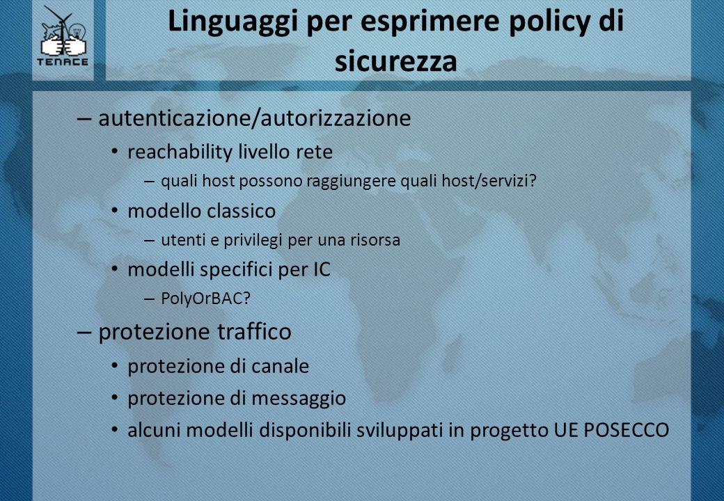Linguaggi per esprimere policy di sicurezza