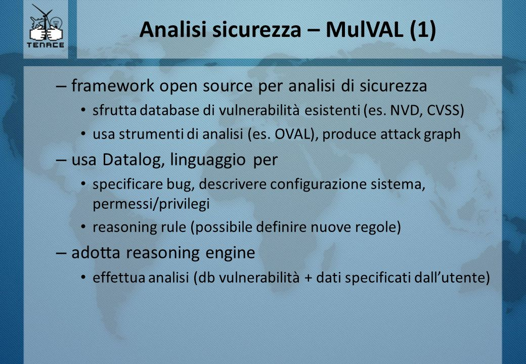 Analisi sicurezza – MulVAL (1)