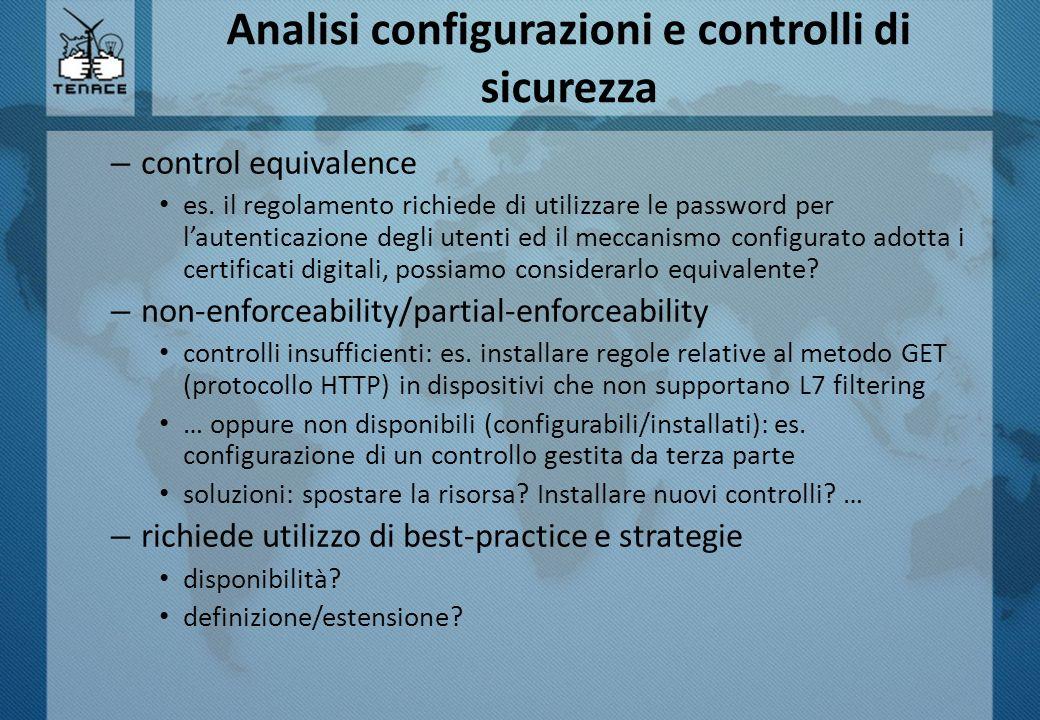 Analisi configurazioni e controlli di sicurezza