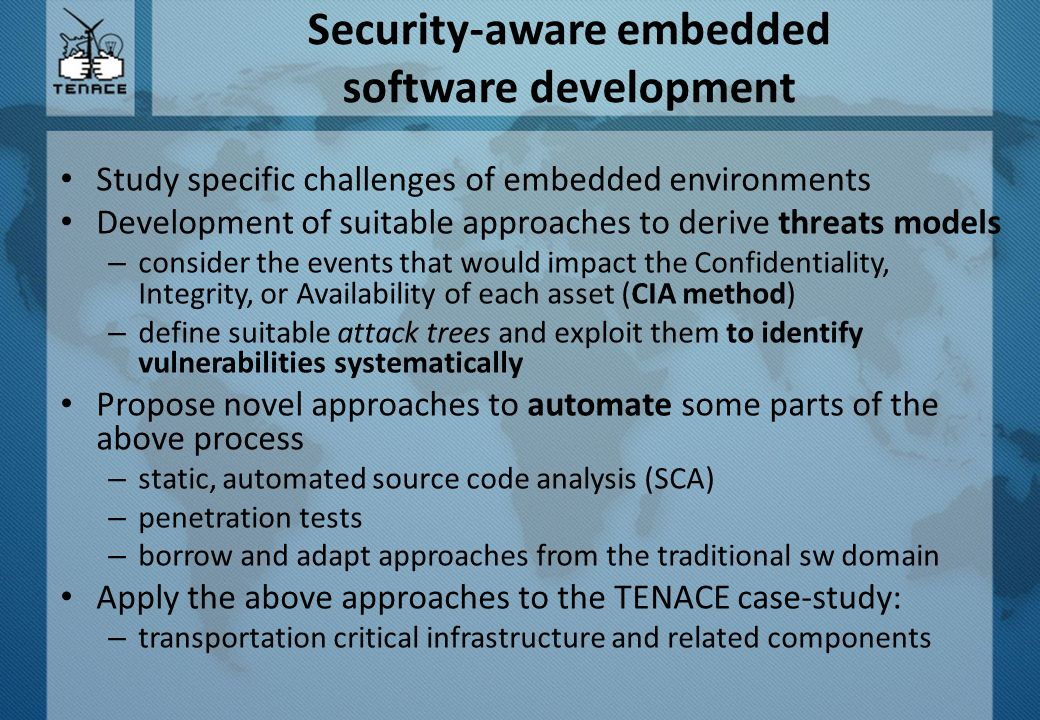 Security-aware embedded software development