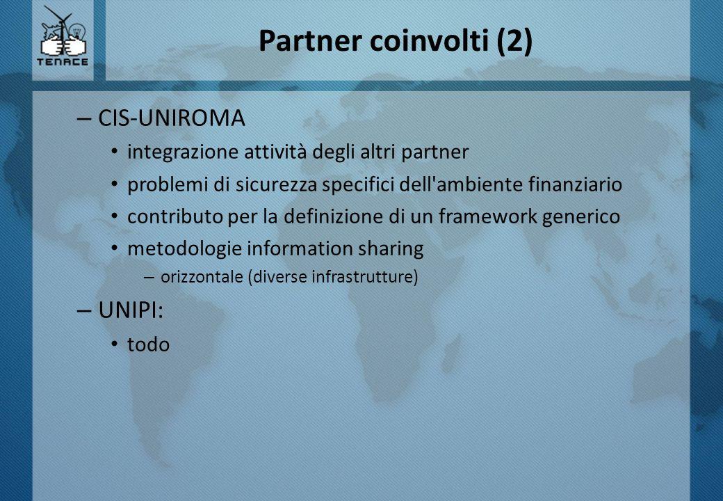 Partner coinvolti (2) CIS-UNIROMA UNIPI: