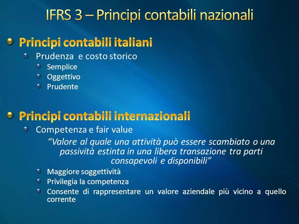 IFRS 3 – Principi contabili nazionali