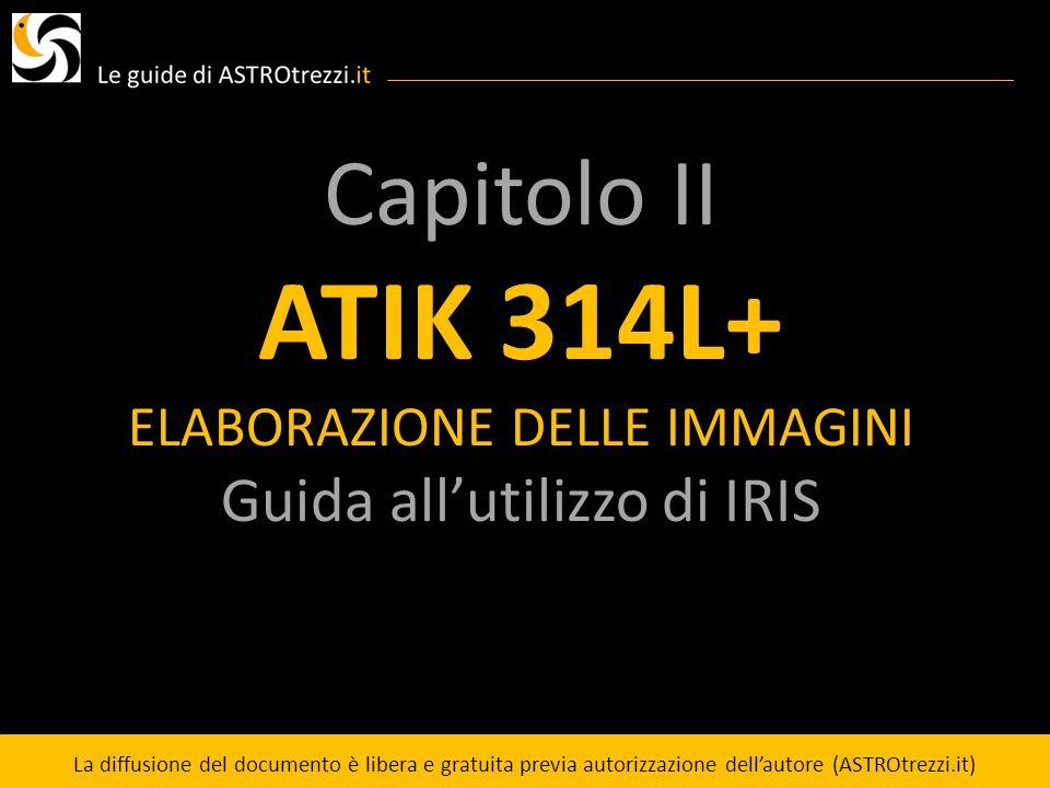 ATIK 314L+ Capitolo II Guida all'utilizzo di IRIS