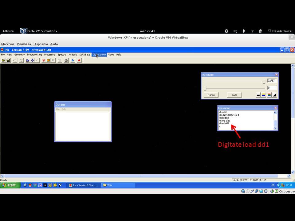 A questo punto aprire il primo file di dark convertito a 15bit