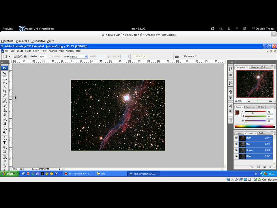 Importate l'immagine JPG in Photoshop per apportare le modifiche finali.