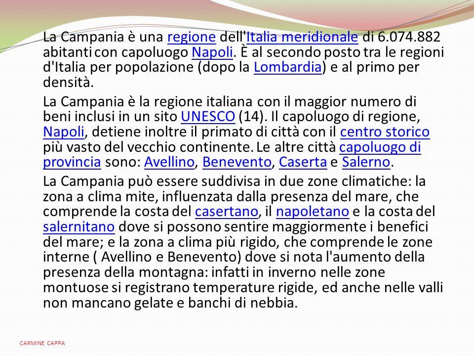 La Campania è una regione dell Italia meridionale di 6. 074