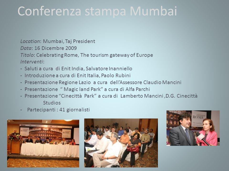 Conferenza stampa Mumbai