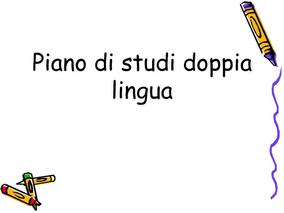 Piano di studi doppia lingua