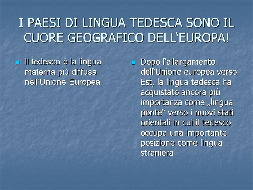 I PAESI DI LINGUA TEDESCA SONO IL CUORE GEOGRAFICO DELL'EUROPA!