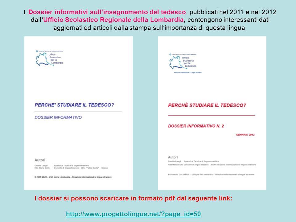 I dossier si possono scaricare in formato pdf dal seguente link: