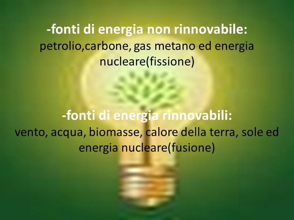 -fonti di energia rinnovabili: