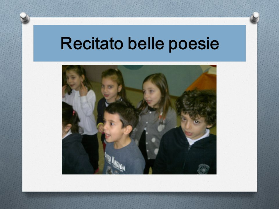 Recitato belle poesie