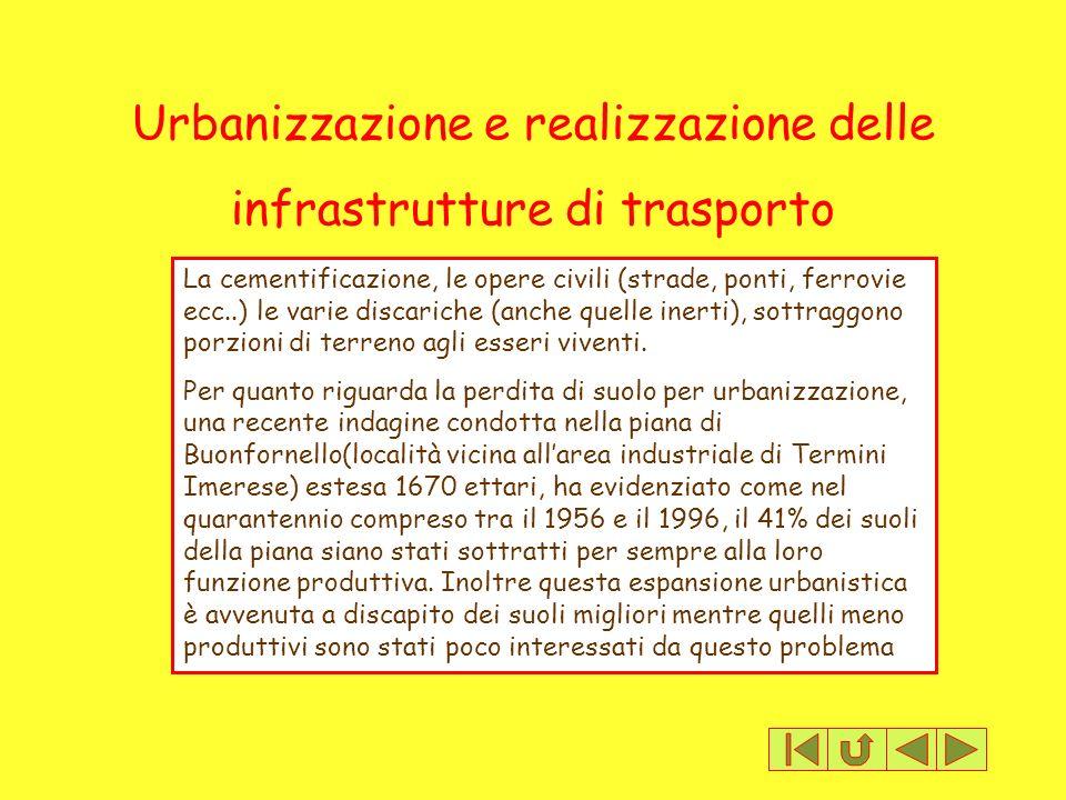 Urbanizzazione e realizzazione delle infrastrutture di trasporto
