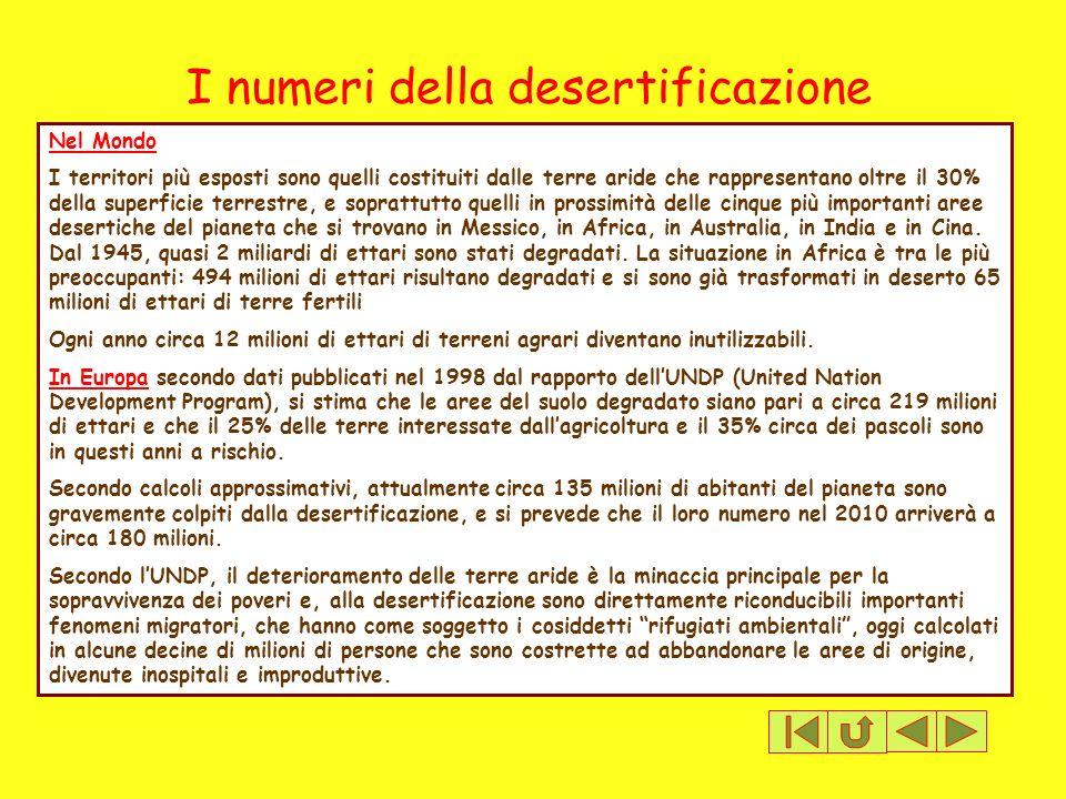 I numeri della desertificazione