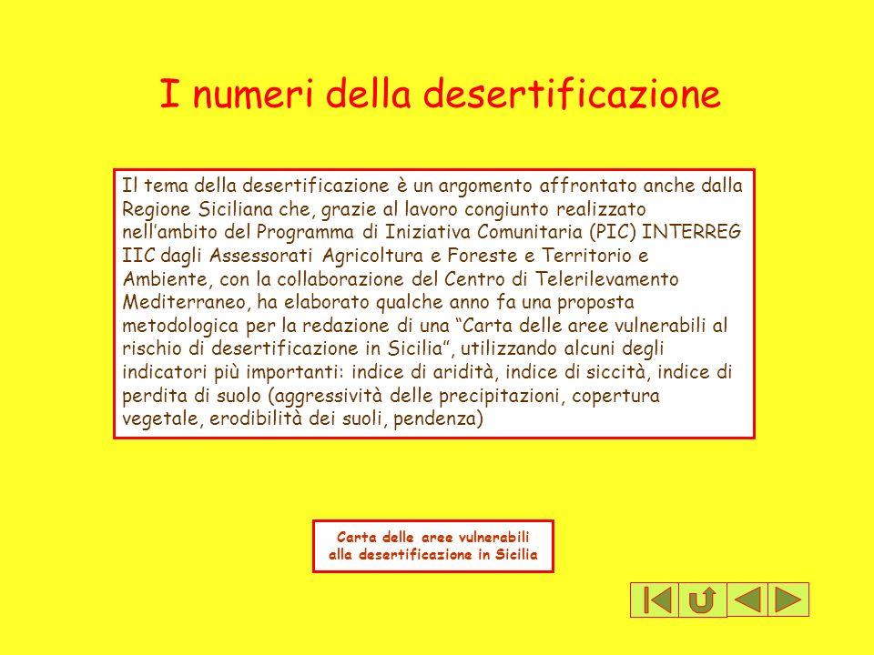 Carta delle aree vulnerabili alla desertificazione in Sicilia
