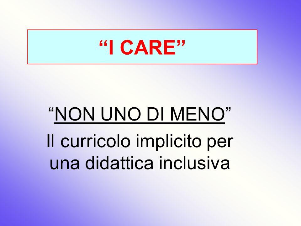 NON UNO DI MENO Il curricolo implicito per una didattica inclusiva