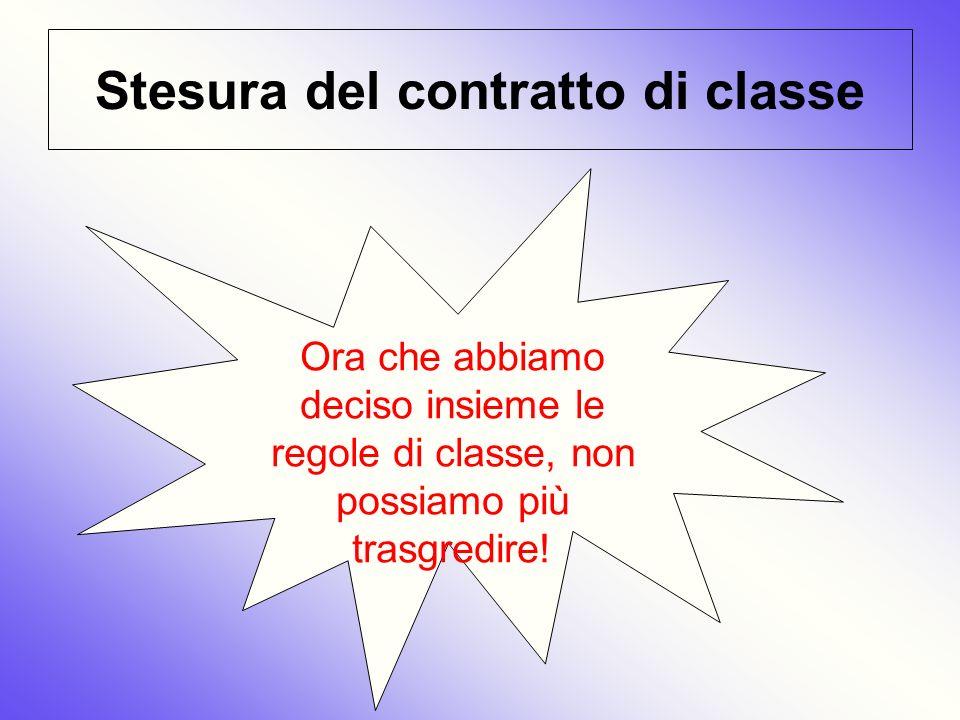 Stesura del contratto di classe