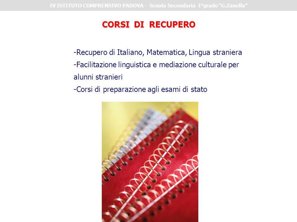 IV ISTITUTO COMPRENSIVO PADOVA - Scuola Secondaria I°grado G.Zanella