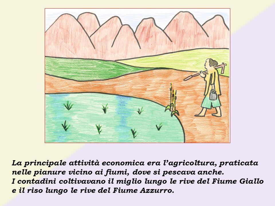 La principale attività economica era l'agricoltura, praticata nelle pianure vicino ai fiumi, dove si pescava anche.