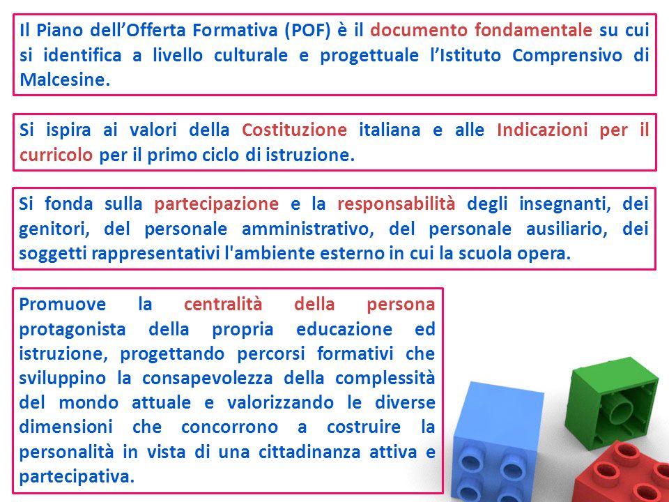 Il Piano dell'Offerta Formativa (POF) è il documento fondamentale su cui si identifica a livello culturale e progettuale l'Istituto Comprensivo di Malcesine.