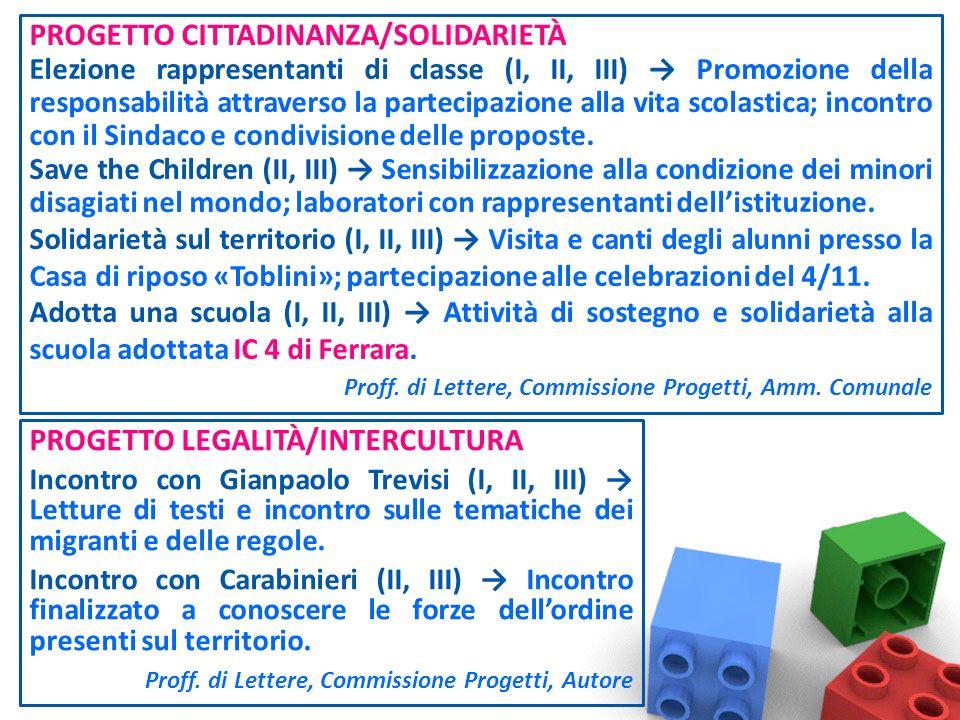 PROGETTO CITTADINANZA/SOLIDARIETÀ