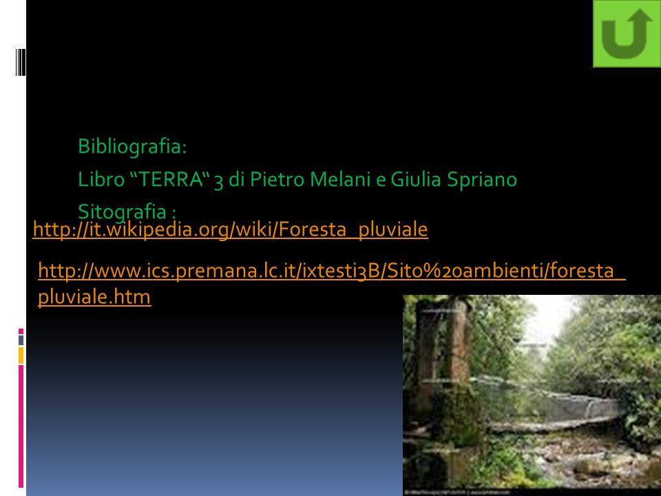 Bibliografia: Libro TERRA 3 di Pietro Melani e Giulia Spriano Sitografia :