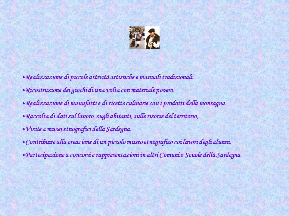Realizzazione di piccole attività artistiche e manuali tradizionali.