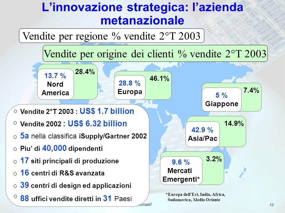 L'innovazione strategica: l'azienda metanazionale