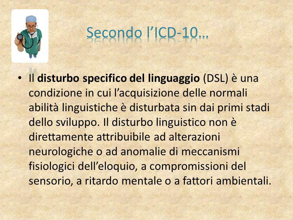 Secondo l'ICD-10…