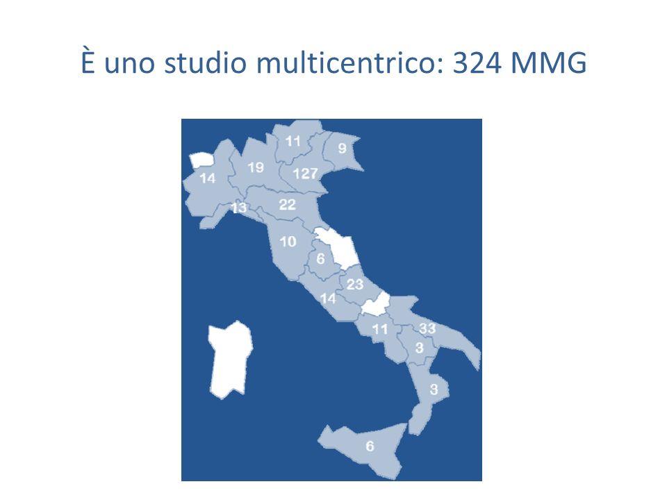 È uno studio multicentrico: 324 MMG