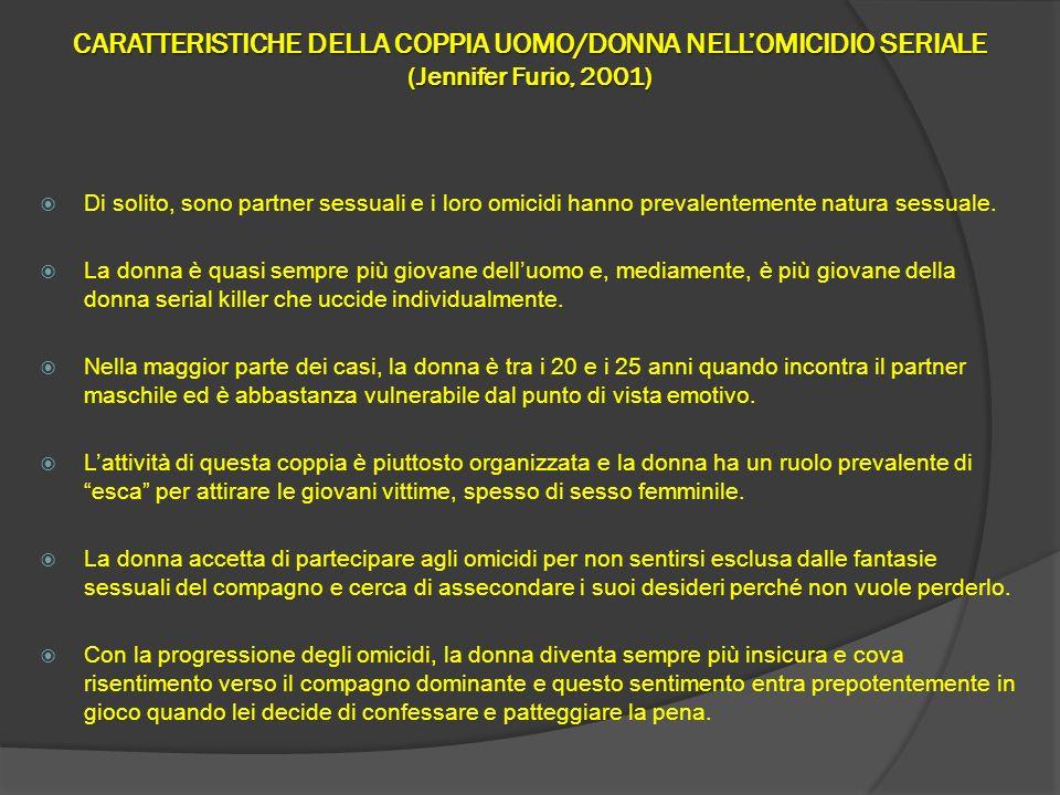 CARATTERISTICHE DELLA COPPIA UOMO/DONNA NELL'OMICIDIO SERIALE (Jennifer Furio, 2001)