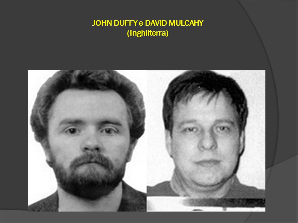 JOHN DUFFY e DAVID MULCAHY (Inghilterra)