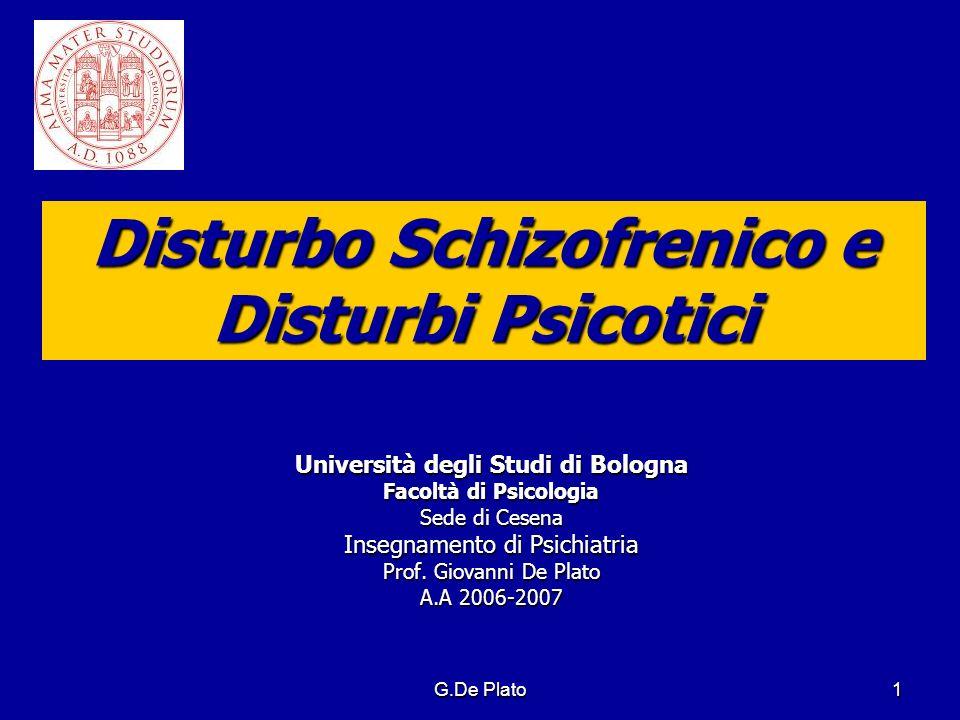 Disturbo Schizofrenico e Disturbi Psicotici