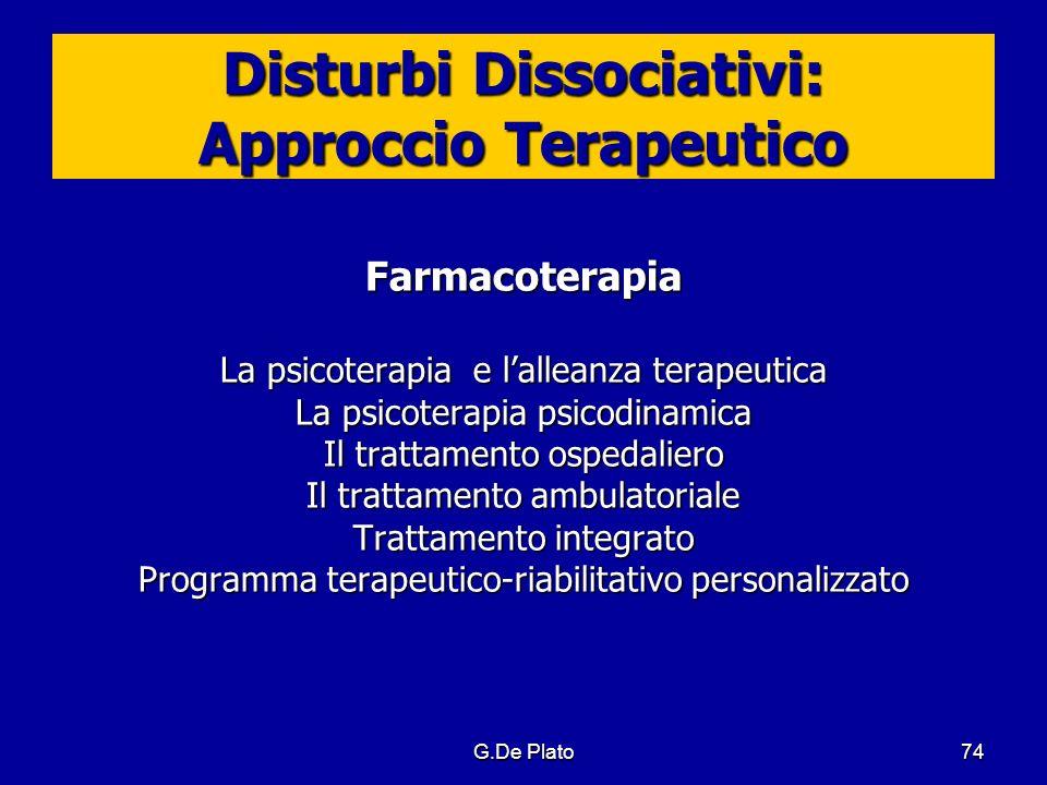Disturbi Dissociativi: Approccio Terapeutico