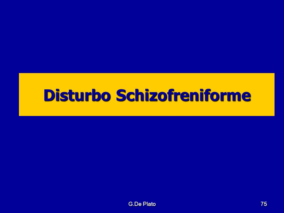 Disturbo Schizofreniforme