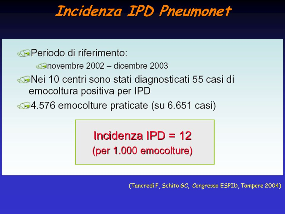 Incidenza IPD Pneumonet