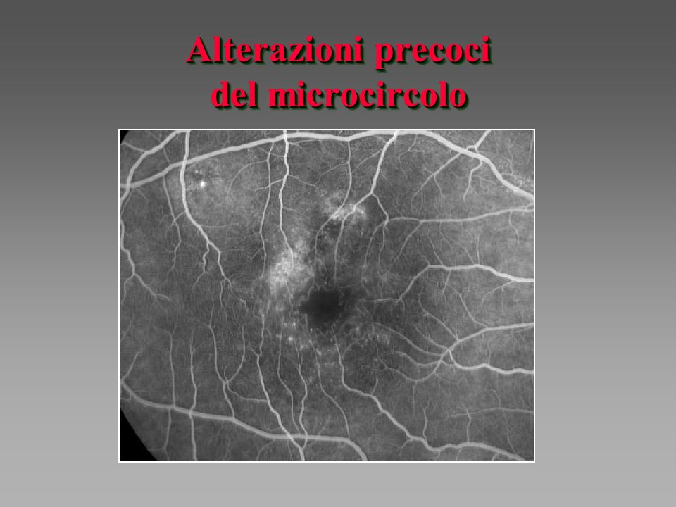 Alterazioni precoci del microcircolo
