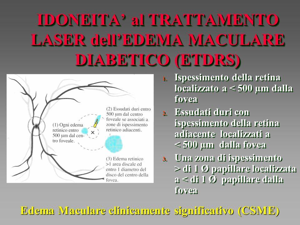 IDONEITA' al TRATTAMENTO LASER dell'EDEMA MACULARE DIABETICO (ETDRS)
