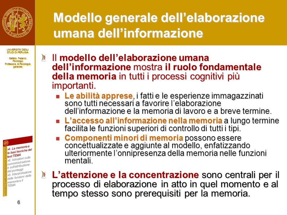 Modello generale dell'elaborazione umana dell'informazione