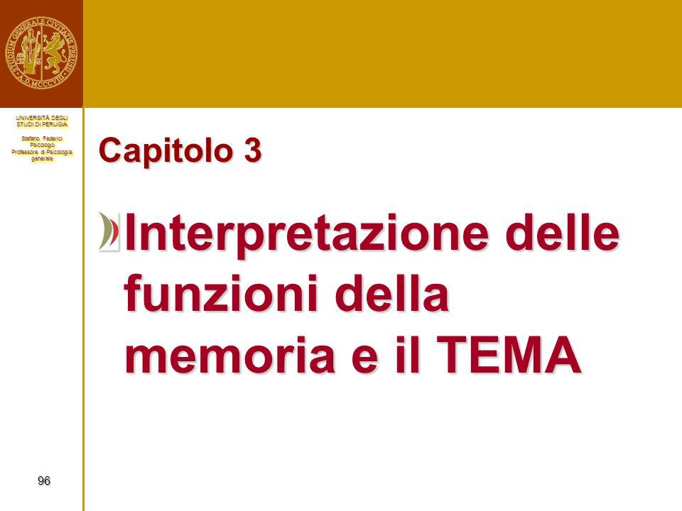 Interpretazione delle funzioni della memoria e il TEMA