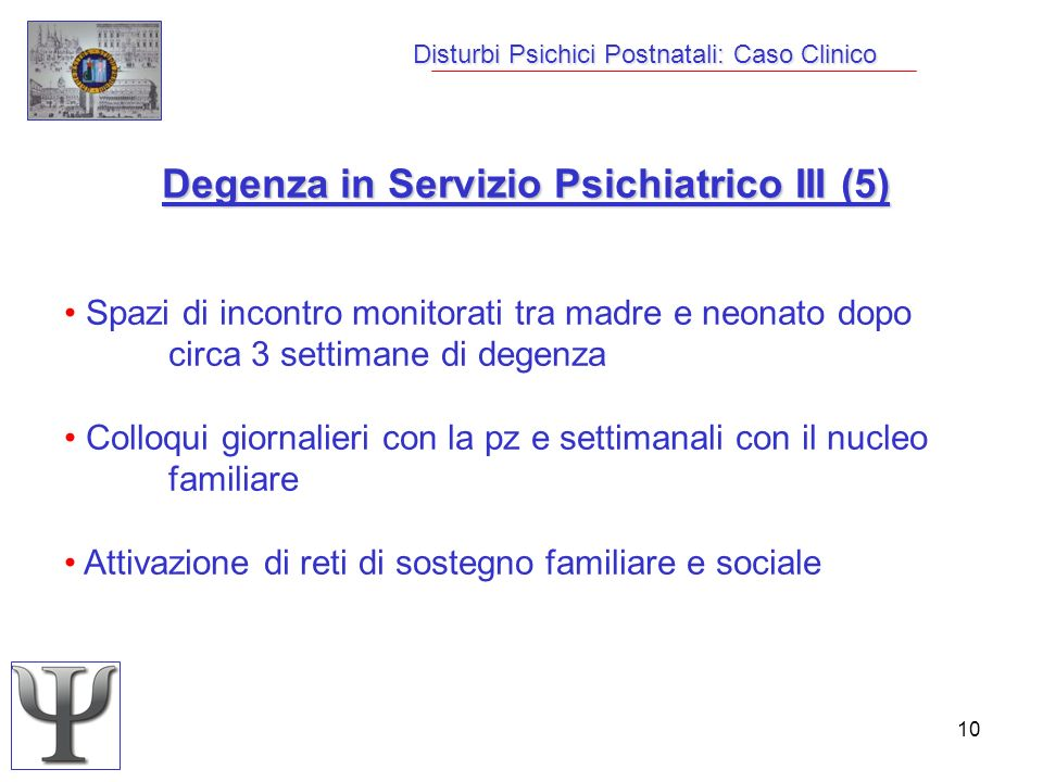 Disturbi Psichici Postnatali: Caso Clinico