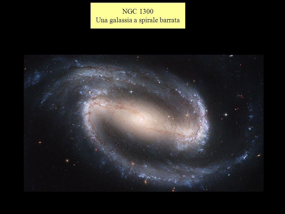 Una galassia a spirale barrata