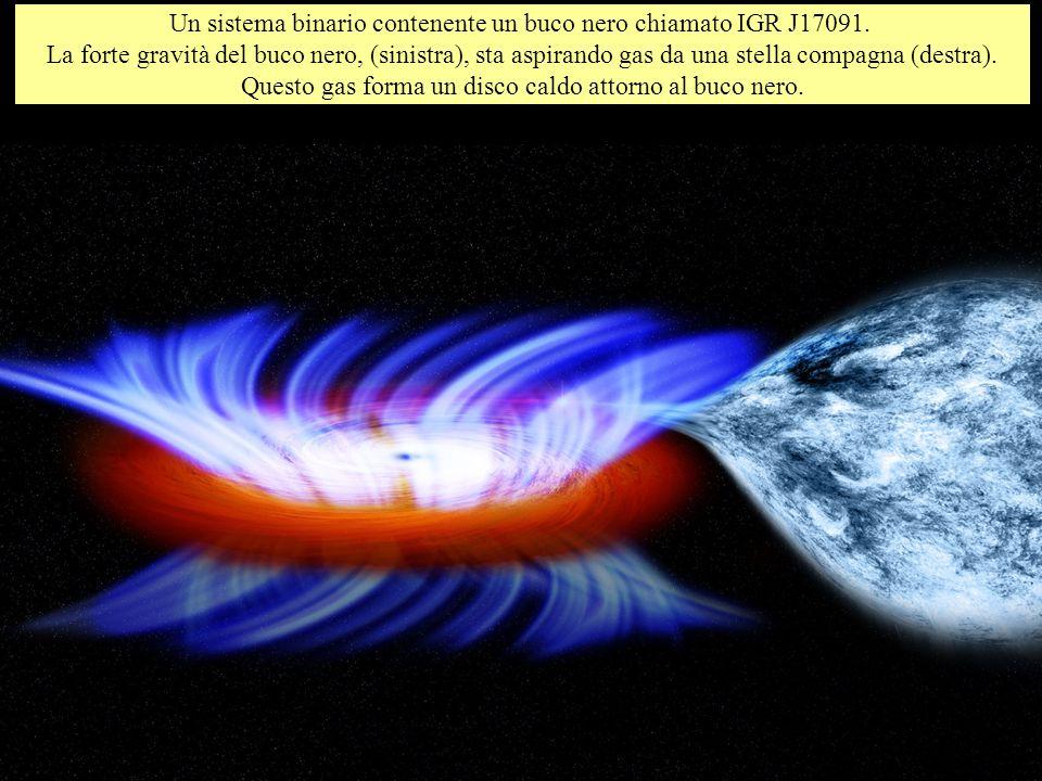 Un sistema binario contenente un buco nero chiamato IGR J17091.