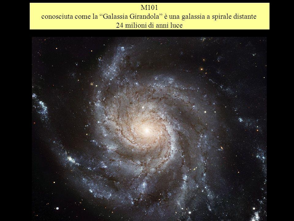 M101 conosciuta come la Galassia Girandola è una galassia a spirale distante